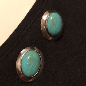 Carolyn Pollack turquoise earrings
